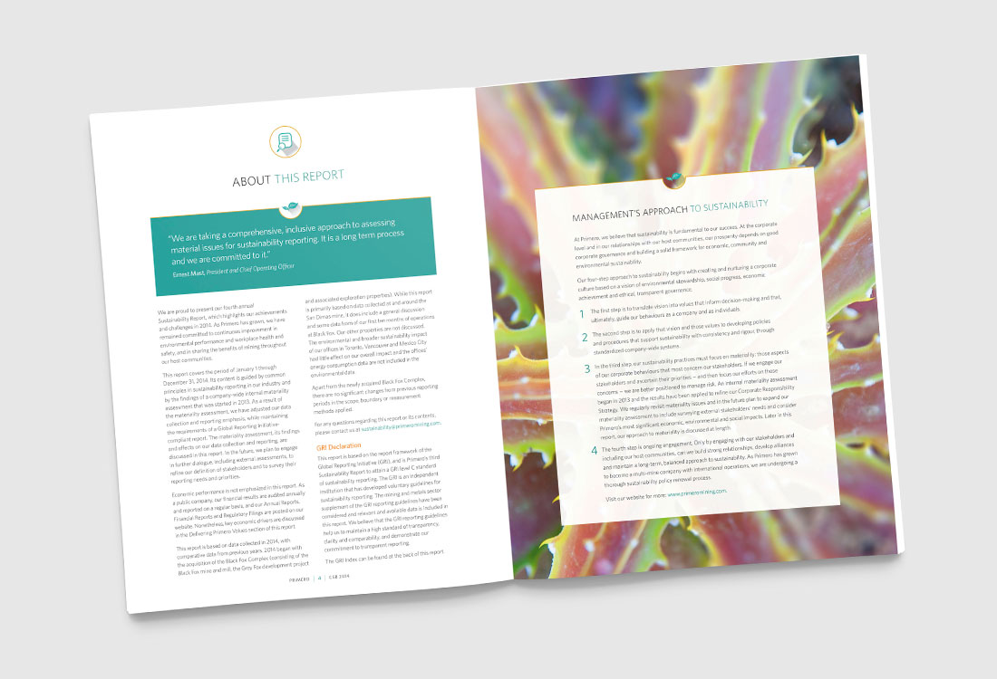 Primero Sustainability Report