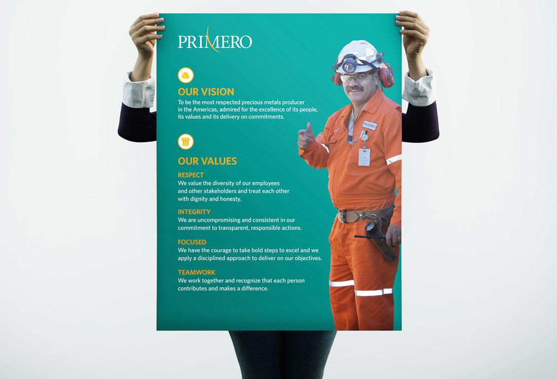 Primero HR Poster Vision Values