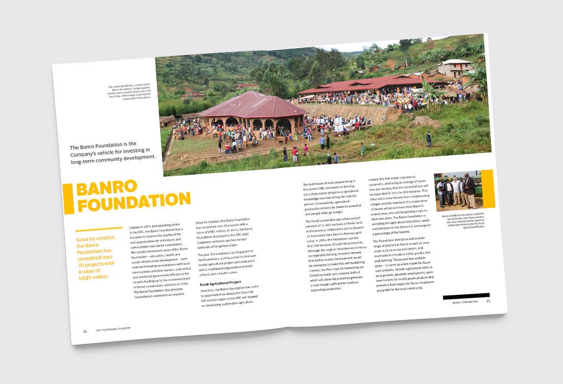 Banro 2015 Sustainability Report