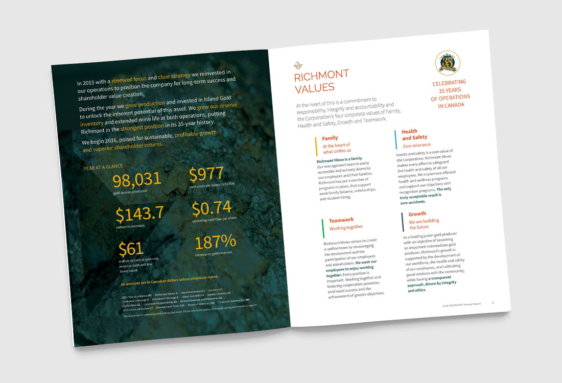 Richmont 2015 Annual Report