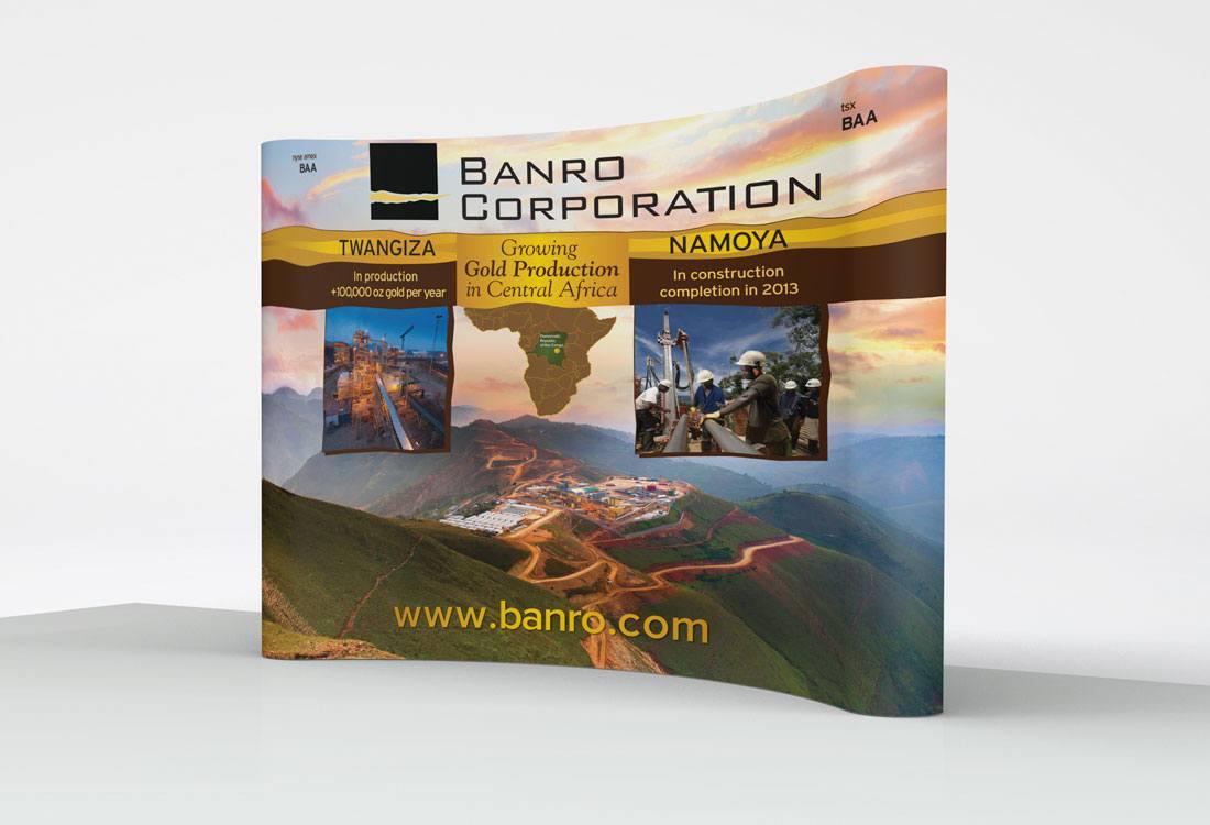 Banro Tradeshow Booth