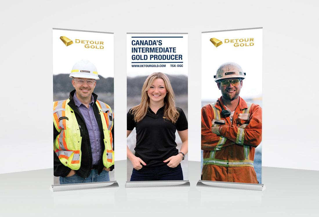 Detour Gold Trade Show Banners