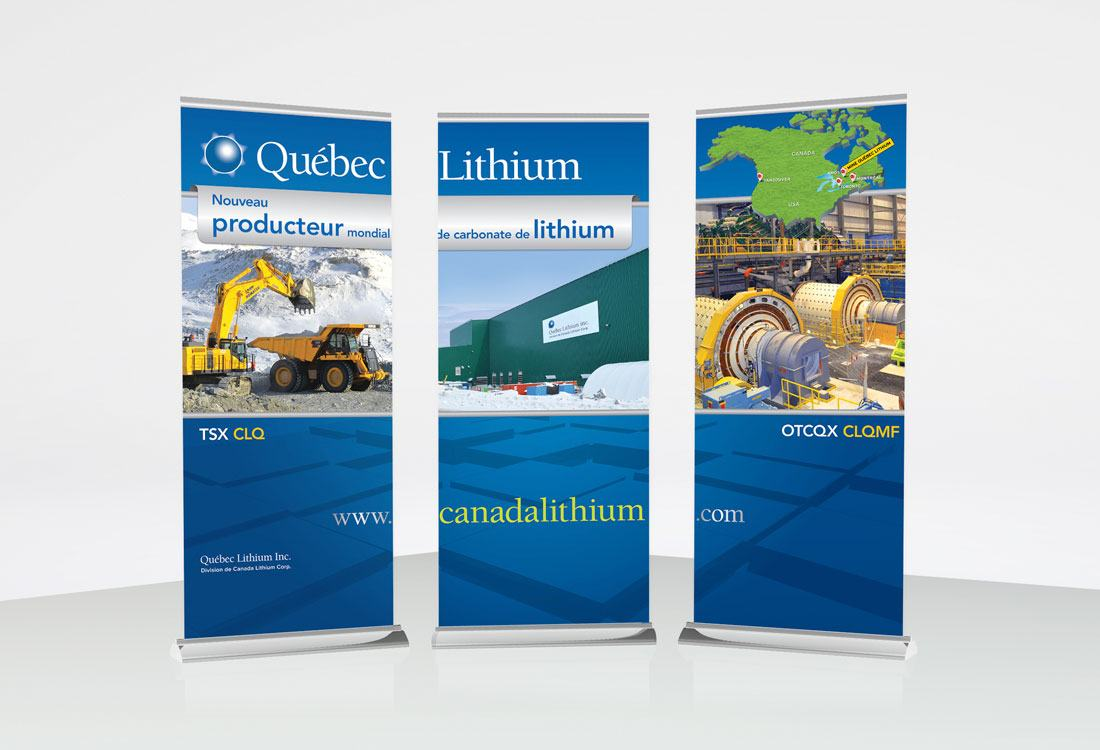 Quebec Lithium Trade Show Banners