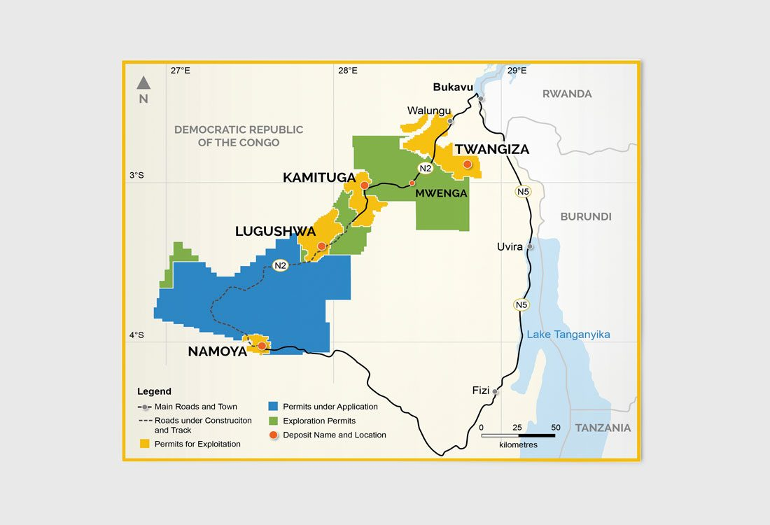Banro Resources Map
