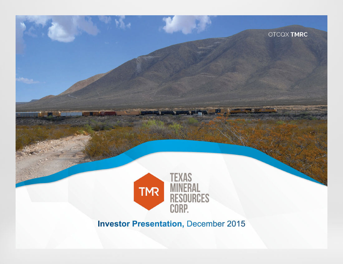 Texas Mineral Resources Investor Presentation