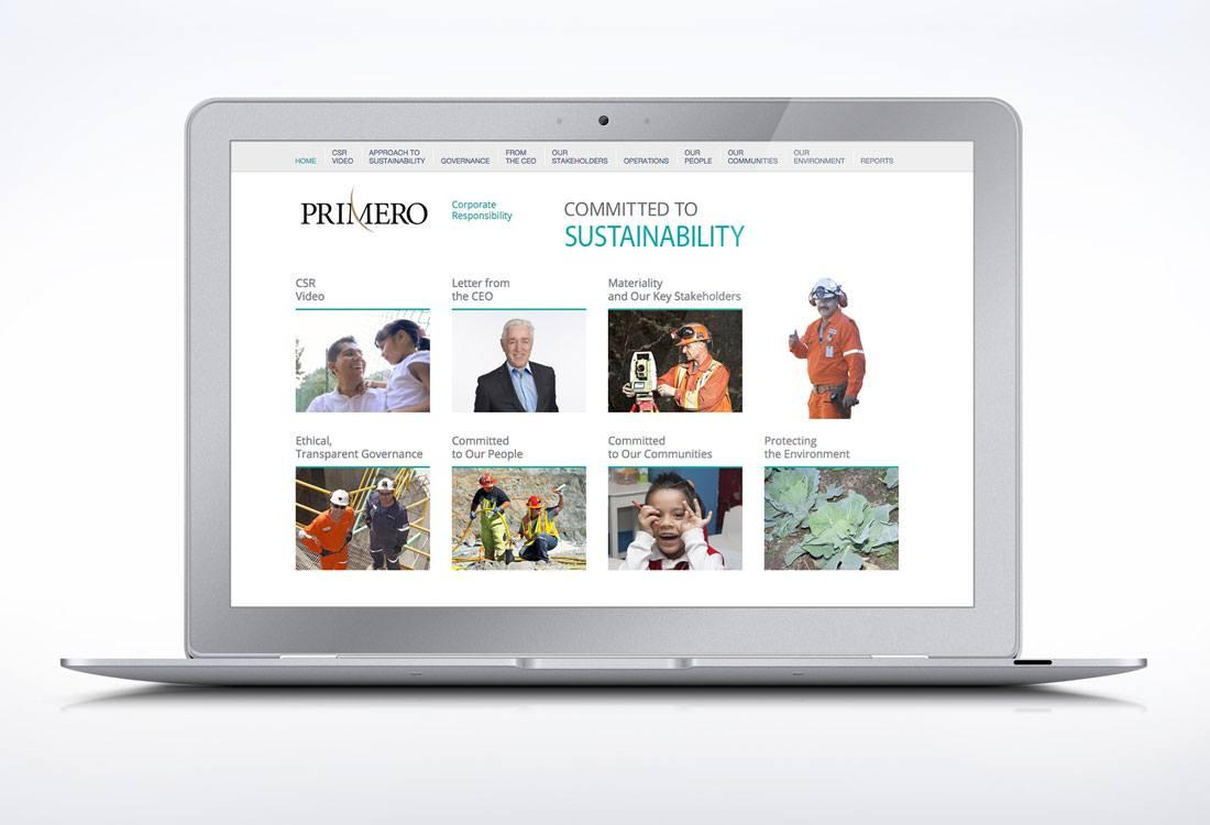 Primero Mining Website – Responsibility