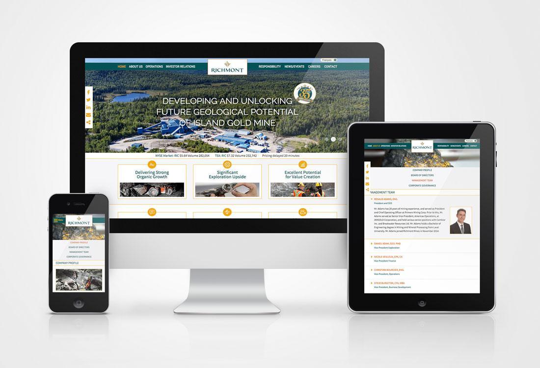 Richmont Mines Website