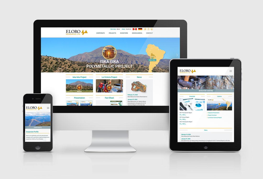 Eloro Resources Website