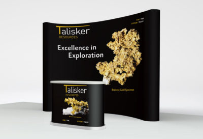 Talisker Resources Booth and Podium
