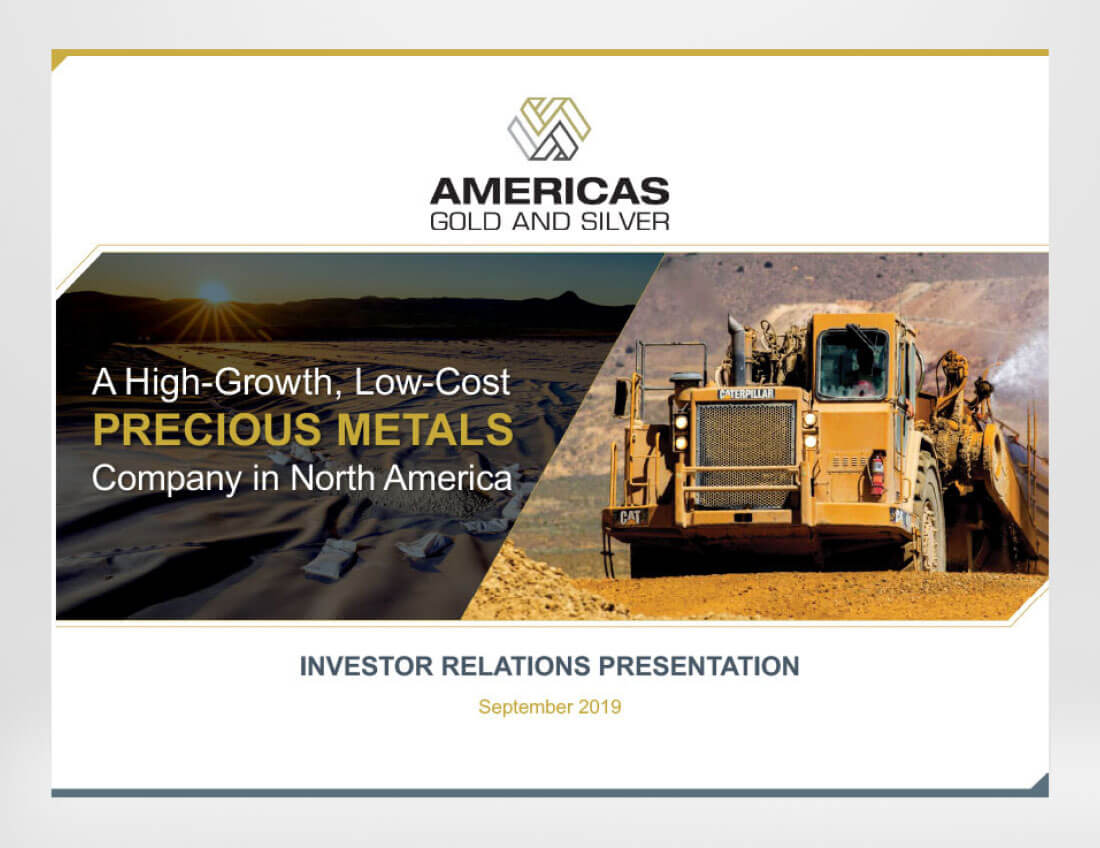 Americas Gold and Silver Presentation