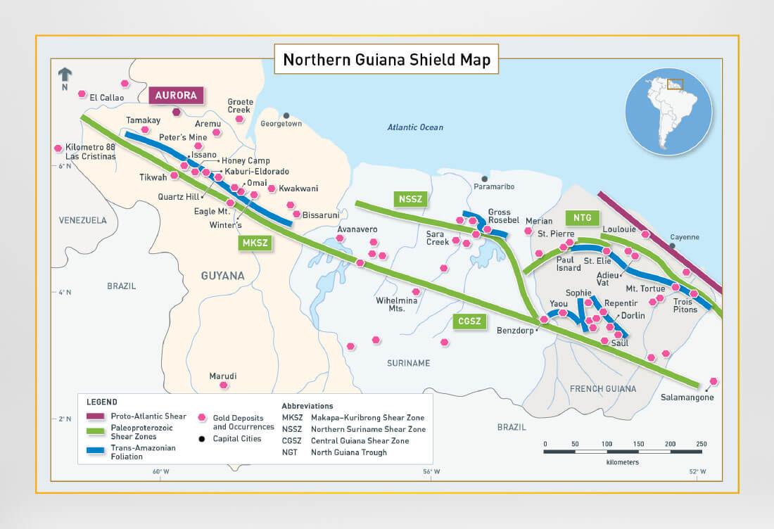 Guiana Shield Map