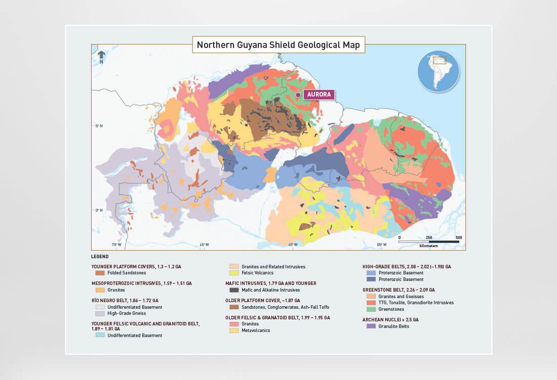 Guyana Shield Geological Map
