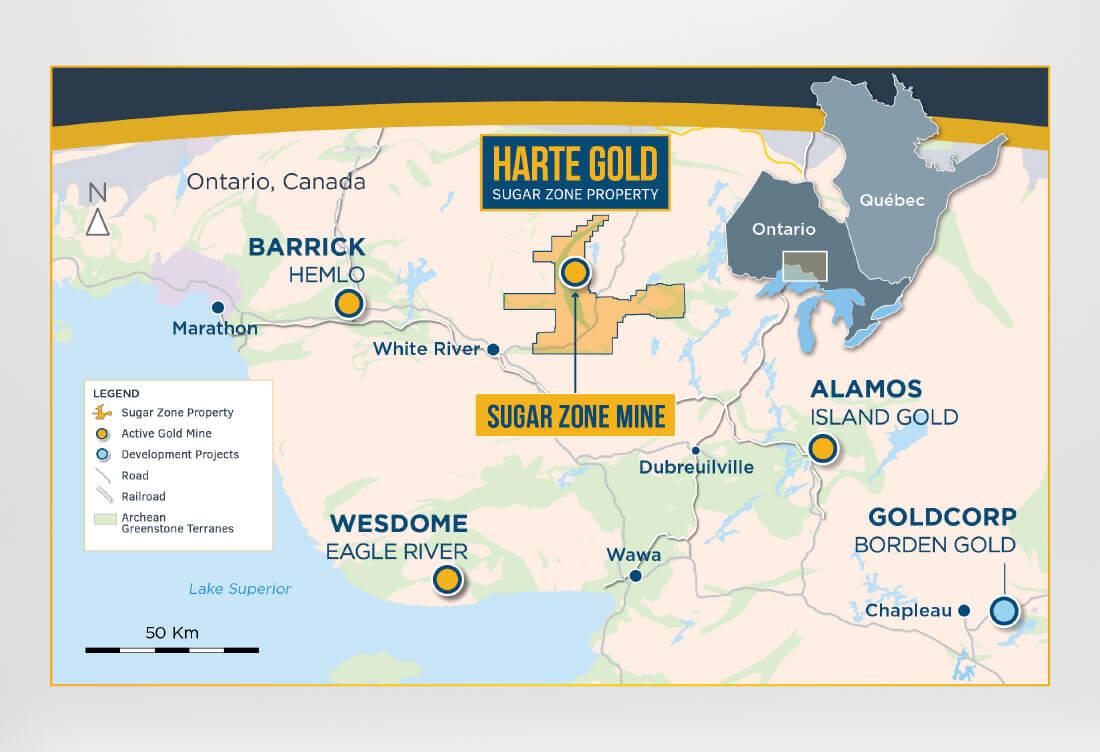 Harte Gold Sugar Zone Map
