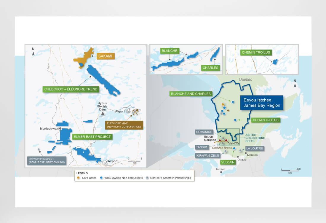 James Bay Region Map