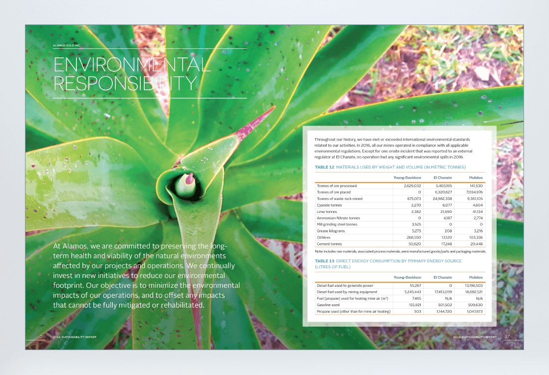 Alamos 2016 Sustainability Report Spread 5