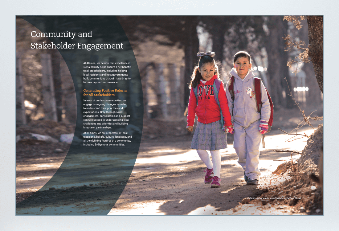 Our Values Sustainability Report Spread