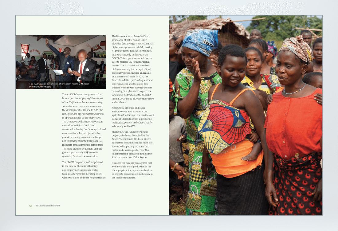 Banro 2016 Sustainability Report Spread
