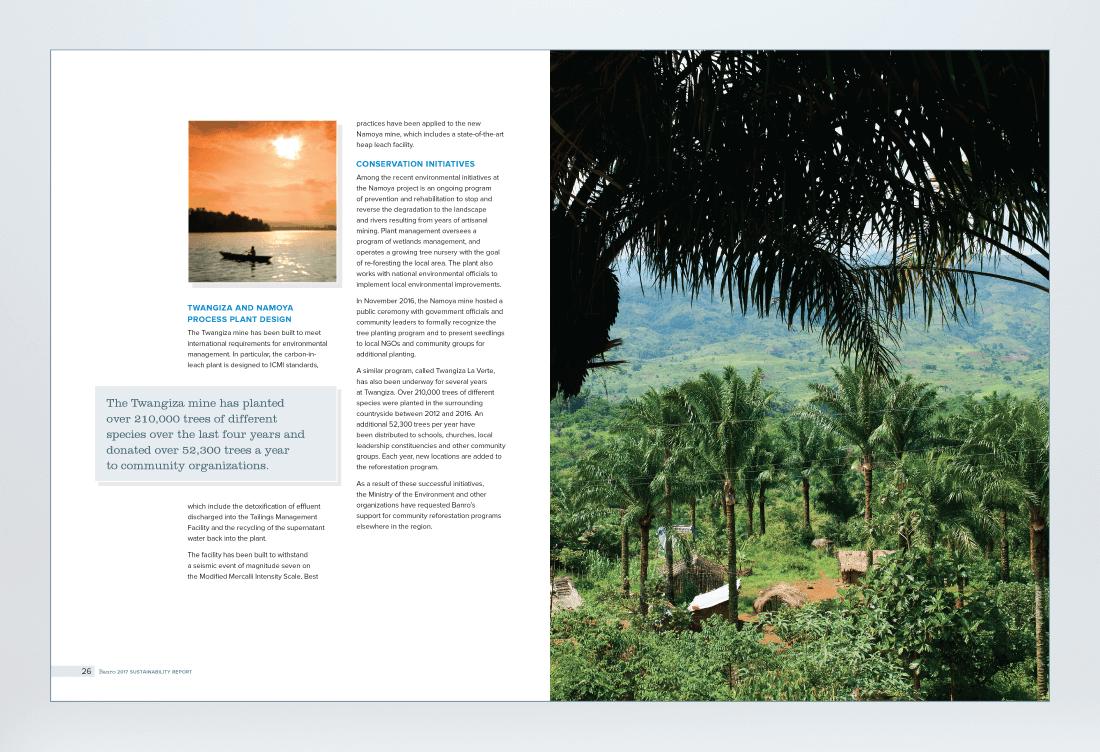 Banro 2017 Sustainability Report Spread 3