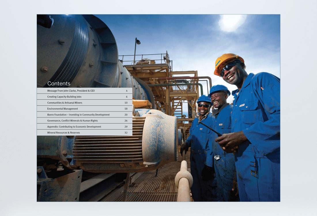 Banro 360 Sustainability Report Spread