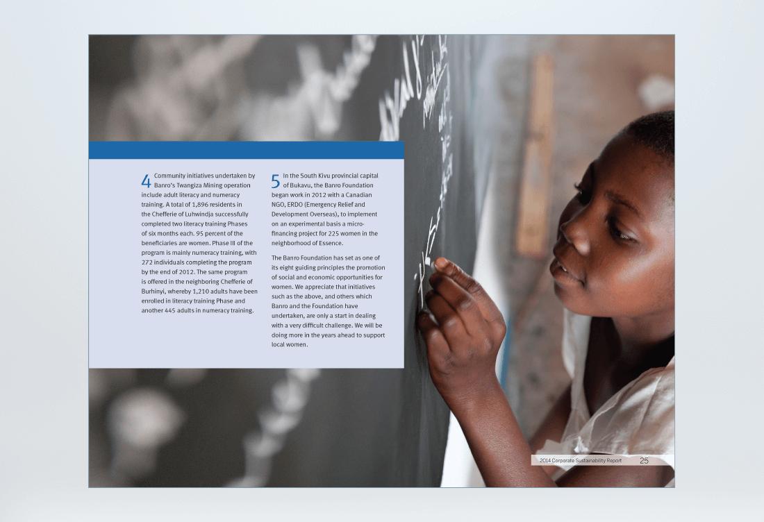 Banro 360 Sustainability Report Spread 4