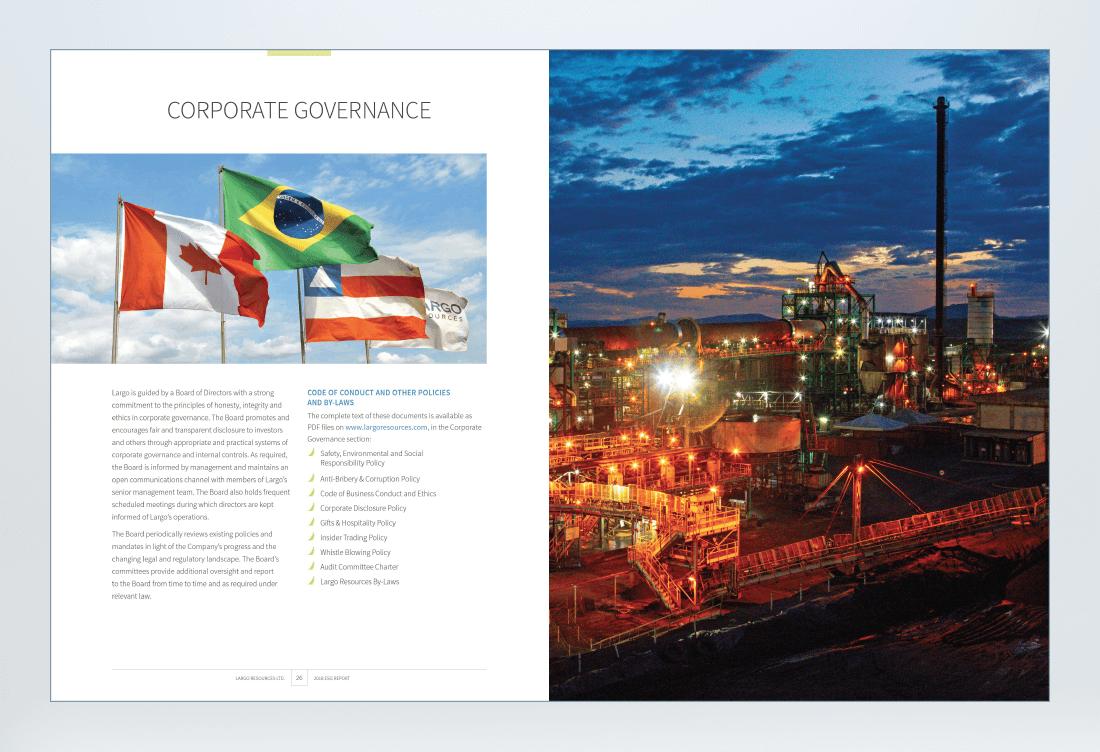 Largo Resources 2018 Sustainability Report Spread 3