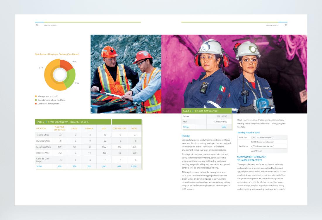 Primero 2015 Sustainability Report Spread 4