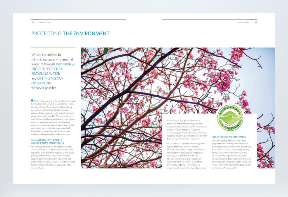 Primero 2015 Sustainability Report Spread 5
