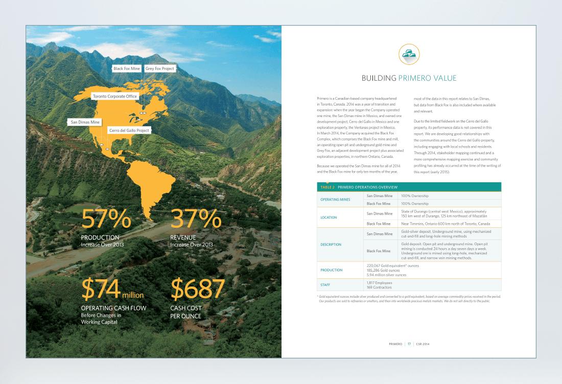 Primero 2016 Sustainability Report Spread 2