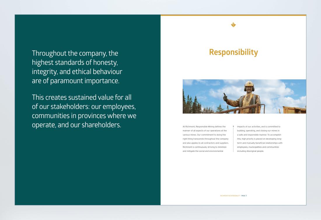 Richmont Sustainability Report Spread